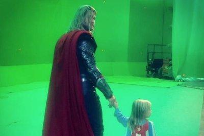 Chris Hemsworth shares 'Thor: Ragnarok' set photo with son