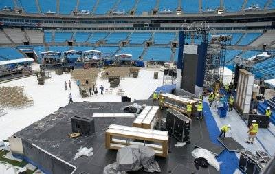 Obama moves site of convention address