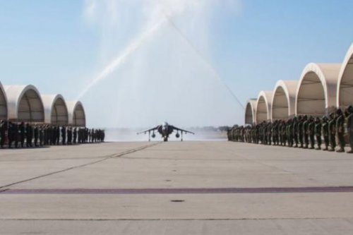 Sundown ceremony marks end of Marines' 'Tomcats' air squadron
