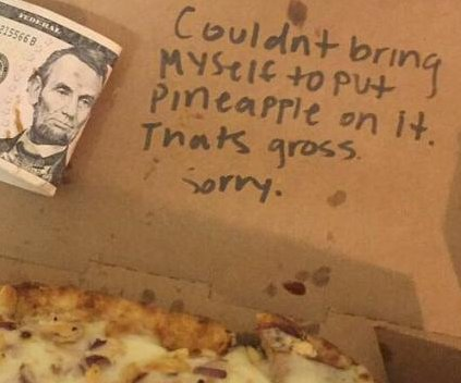 Arizona student says pizzeria refused order of 'gross' pineapple