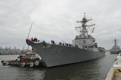 Destroyer USS Forrest Sherman completes repairs