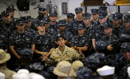 U.S. Navy promotes first black woman to four star admiral