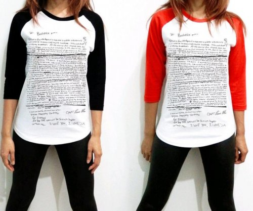Kurt Cobain suicide note pictured on shirt on Ebay