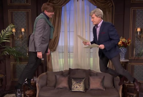Watch: Bryan Cranston, Jimmy Fallon perform soap opera suspended in mid-air