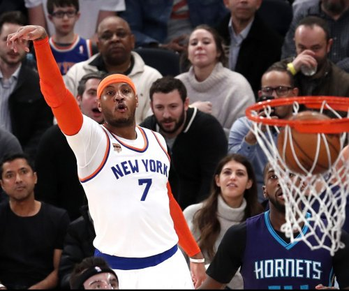 Carmelo Anthony, Kristaps Porzingis lead New York Knicks past Charlotte Hornets