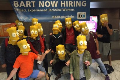 Bart Simpson impersonators swarm San Francisco's BART transport system