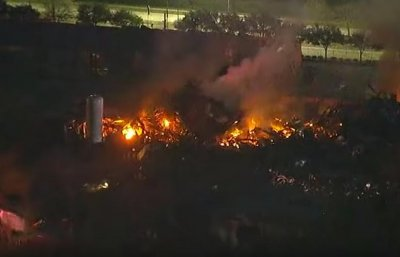 1 missing after explosion, fire at west Houston warehouse