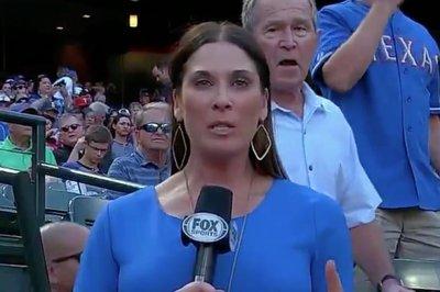 Texas Rangers: Former President George W. Bush videobombs TV broadcast