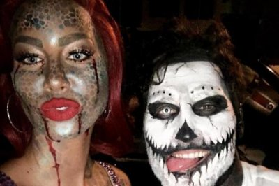 Amber Rose, Val Chmerkovskiy reunite for Halloween