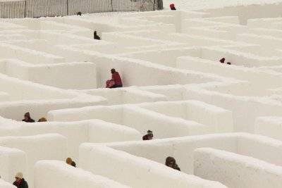 Manitoba snow maze eyes Guinness record