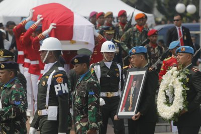 Former Indonesian President B.J. Habibie lies in state