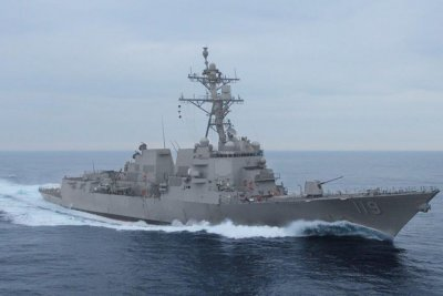 Future destroyer USS Delbert D. Black completes builder's trials