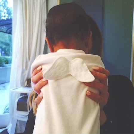 Kendall Jenner shares photo of baby North West as an angel