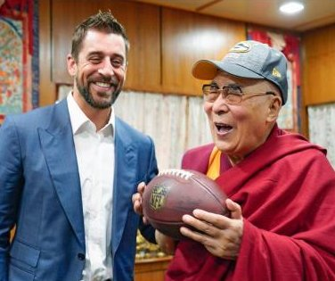 Green Bay Packers QB Aaron Rodgers meets Dalai Lama