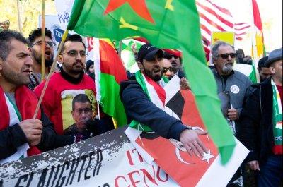 Hundreds protest Erdogan visit to White House