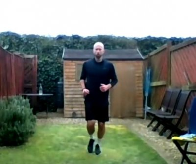 British man runs backyard marathon during lockdown
