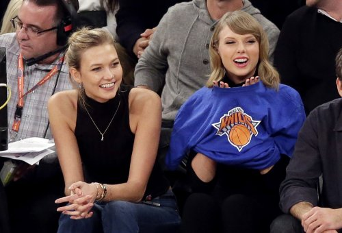 Taylor Swift and Karlie Kloss take in a Knicks game