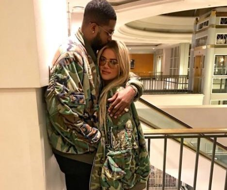 Khloe Kardashian, Tristan Thompson get close in matching jackets