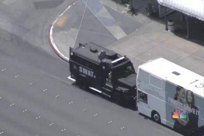 Gunman surrenders after one killed, one injured aboard Las Vegas bus