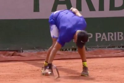Poor Sport: Borna Coric obliterates racket at French Open