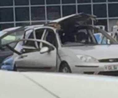 Cigarette-sparked air freshener blast blows doors and roof off car