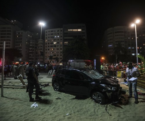 15 people injured as car plows through Copacabana boardwalk