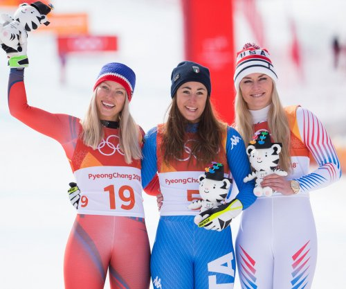 Italian skier Goggia crowned, Vonn finishes third in final Olympic women's downhill