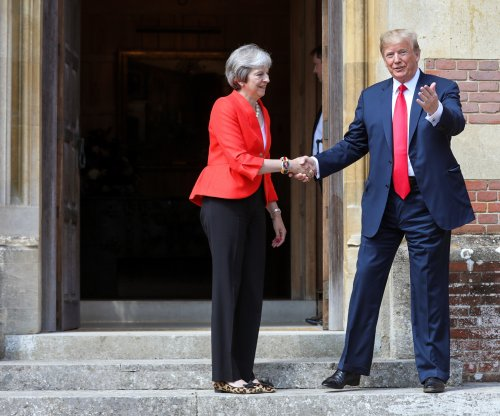 Trump, May show united front after candid tabloid interview