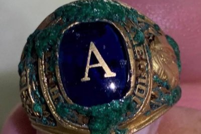 Class-ring-lost-at-Florida-beach-found-in-sand-50-years-later