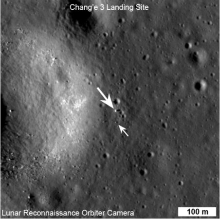 NASA moon orbiter snaps photo of Chinese rover and its lander