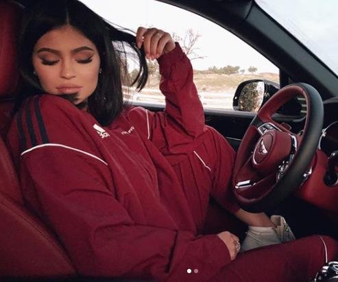 Kylie Jenner posts photos in Bentley after daughter's birth