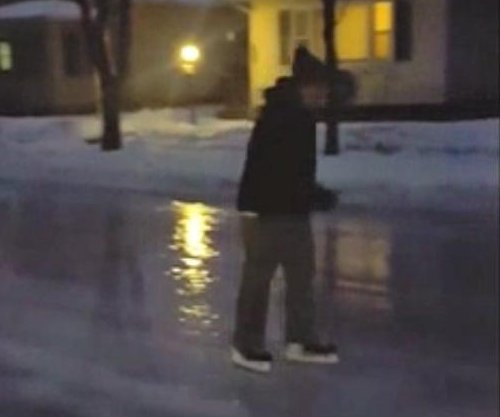 Wisconsin ice storm makes roads perfect for skating