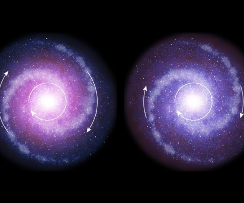 Dark matter was less influential in the early universe