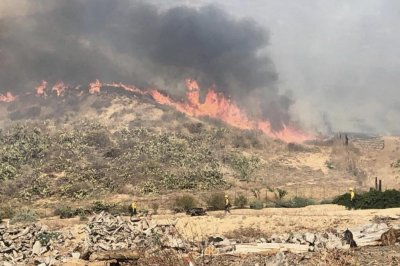 California's latest fire destroys 2 homes, threatens avocado, citrus crops