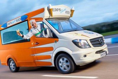 British man breaks Guinness record for fastest ice cream truck