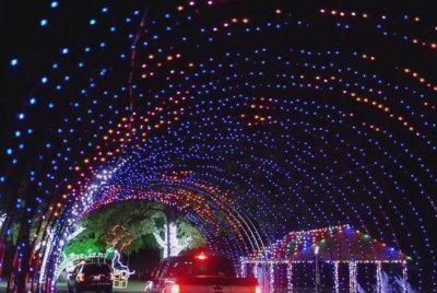 Drive-through light shows in Texas keep COVID-19 safety in mind
