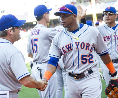 New York Mets' Yoenis Cespedes leaves game with bruised fingers