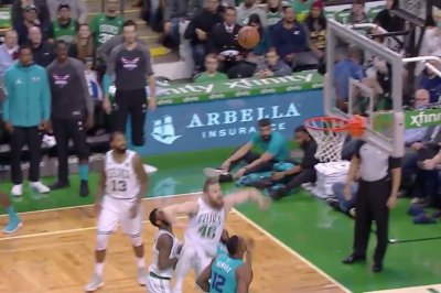 Kyrie Irving: Boston Celtics star hit in face by teammate, gets bloody nose