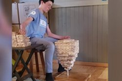 British Columbia boy doubles own world record for Jenga stacking