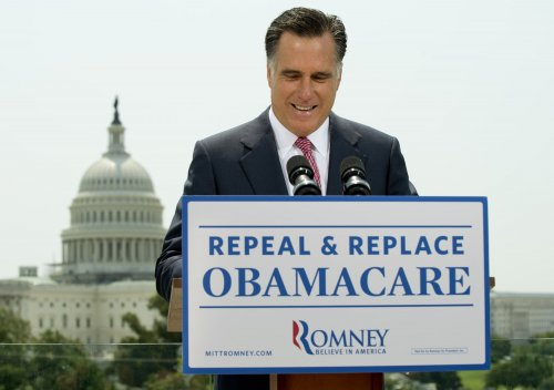 Romney reverses aide on healthcare 'tax'