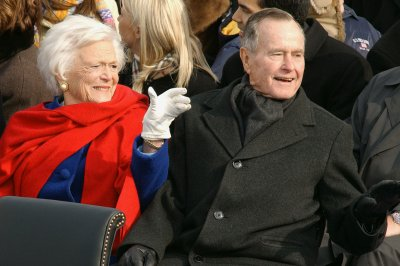 Barbara Bush joins husband in Texas hospital as 'precaution'