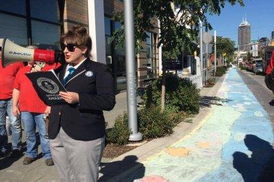Indiana city creates world's largest chalk pavement drawing