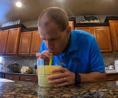 Man drinks liter of lemon juice in under 17 seconds for world record