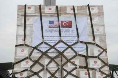 Turkey donates medical equipment to United States