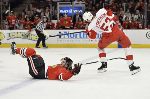 Red Wings defenseman Jonathan Ericsson out with broken ribs