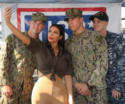 Kim Kardashian shares photos from troop visit in Abu Dhabi