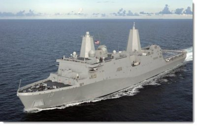 USS Mesa Verde joins naval strike group in Persian Gulf as Obama weighs military option in Iraq