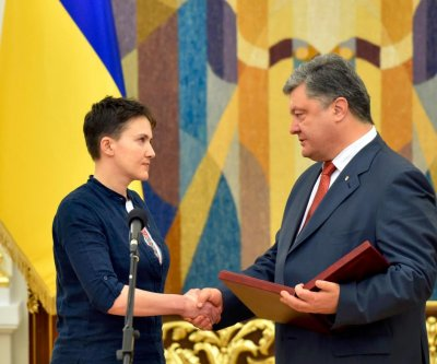 Released Ukrainian prisoner Savchenko says she's ready to be president