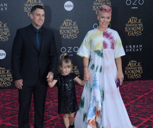 Pink posts family photo on husband Carey Hart's birthday