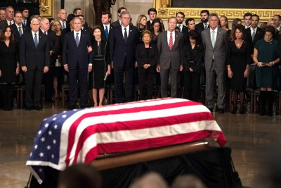George H.W. Bush's body lies in state at Capitol Rotunda